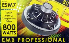 "1"" Voice Coil 800 Watts High Power Tweeter Compression Horn Driver 1-3/8"" Esm7"