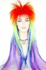 Exotic Bird From the Amazon Forest Long Medium Straight Fun Color Costume Wigs