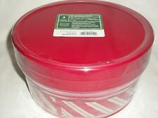 3 lb Plastic Treat Tins Christmas Red Green Holiday Treat Candy Baked Goods Gift