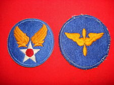 2 US AIR FORCE Patches: Hap Arnold Wing + AVIATION CADET