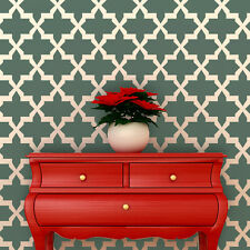 Wall Stencil Large Moroccan Stencil Eugene for Painted Wallpaper and Home Decor