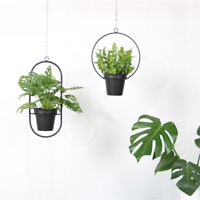 Hanging Basket Flower Pots Holder Geometric Pot  Metal Chain Plant  !
