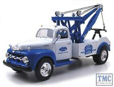 10-3820 First Gear 1:34 SCALE  1951 Ford Tow Truck 'Ford' Blue & White