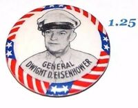 1952 DWIGHT D. EISENHOWER campaign pin pinback button political presidential