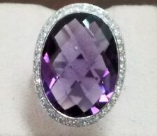 Magnificent Platinum Amethyst and diamond Cocktail Ring