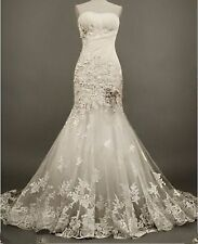 Sweetheart Plus Size Wedding Dress Lace White/Ivory Ball Bridal Gown Custom 4-24