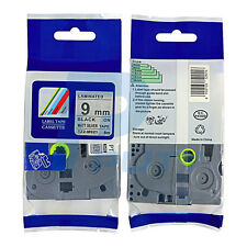 2PK Compatible for Brother TZ-M921 Black on Matt Silver Label Tape 9mm TZe-M921