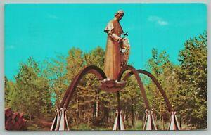L'Anse Michigan~Shrine of Snowshoe Priest~US 41~Vintage Postcard