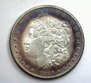 1889-CC MORGAN SILVER DOLLAR NEAR CHOICE UNC NICE TONING!! SCARCE THIS NICE!!