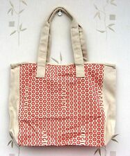 Origins Tote/Shopper Fawn & Orange Canvas Bag with Magnetic Fastening - New