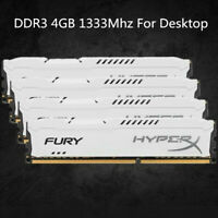 Pour 4 Go 8 Go 16 Go Kingston HyperX PC3-10600 DDR3-1333 MHz blanc RAM de bureau