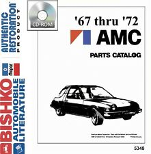 1967 1969 1970 1971 1972 AMC Part Numbers Book CD List Guide Interchange Drawing