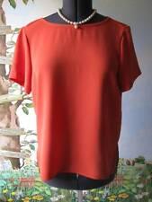 Rag & Bone Bettina Top Saffron Woman Short Sleeve Top Blouse Size Small New