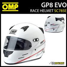 SALE! SC785E OMP Racing GP8 EVO Full Face Helmet Grand Prix 8 EVO FIA Approved