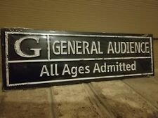 GENERAL AUDIENCE ADMITTED Metal Sign- Entertainment Movie Office Home Wall Decor