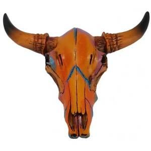 Indianisch verzierter Western Bisonschädel