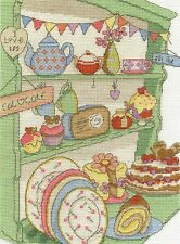 "DMC Counted Cross Stitch Kit ""I love tea and cake"""