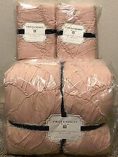 Pottery Barn Teen Emily & and Meritt Parisian Petticoat FULL QUEEN quilt shams