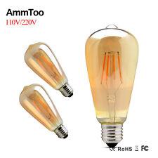 Dimmable Retro E27 Vintage Edison Bulb 4/6/8W ST64 LED Filament Lights  220/110V
