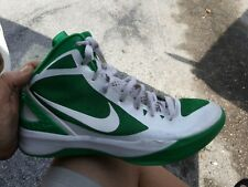 f1980465eec 454138 105NIKE ZOOM HYPERDUNK 2011 MENS BASKETBALL SHOES.WHITE AND GREEN