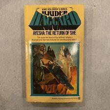 Ayesha: The Return Of She by H. Rider Haggard - 1978 1st Ballantine Ed VG - #145