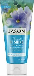 JASON NATURAL STYLING GEL 170g- FLAXSEED HI SHINE - NO PARABENS, SLS - FREE P&P