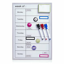 Planificador semanal pizarra magnética BOARD NEVERA Compras Lista de tareas Pluma seco limpie
