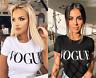 VOGUE T-Shirt Slogan Celebrity Fashion Top Women's Ladies Style Tee