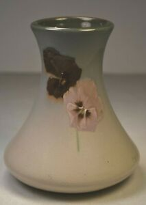 "Weller Eocean Flowered Vase. Artist Signed. 5"" Tall. Gray. c. 1900. Great Piece"
