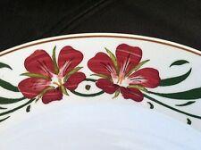 Villeroy Boch Dresden Bowl Antique Vintage 1393 Red Lillies Floral Black Mark