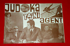 JUDOKA SECRET AGENT 1966 FRENCH JEAN-CLAUDE BERCQ TOLO ZIMMER EXYU MOVIE PROGRAM