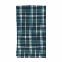 New Country House Primitive INDIGO BLUE PLAID Valance Curtain