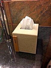 Faux Stone / Teak wood Tissue Box Cover - FREE SHIPPIING!