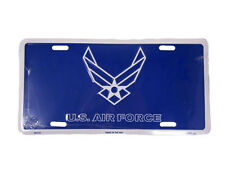 "Blue USAF US Air Force Blue Wings White Border Emblem 6""x12"" License Plate Tag"