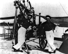 New 8x10 Civil War Photo: Sailors and Guns on Deck of Gunboat HUNCHBACK