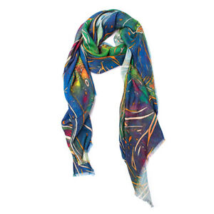 LUXURIOUSLY SOFT BAMBOO AND SILK PRINTED SHAWLS SUPERB QUALITY NECK WRAPS
