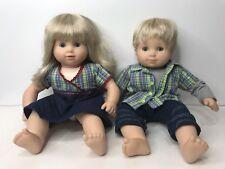 American Girl Doll 2002 Bitty Twins Baby Dolls Boy & Girl Blue Eyes Blonde Hair