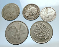 GROUP LOT of 5 Old SILVER Europe or Other WORLD Coins for your COLLECTION i74379