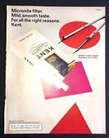 Life Magazine Ad KENT Cigarettes 1968 Ad