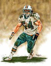 Zach Thomas Miami Dolphins 8 X 10 Giclee by James Byrne Series 1