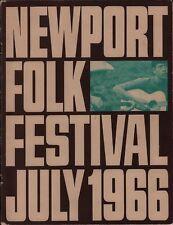 JUDY COLLINS / JIM KWESKIN SIGNED 1966 NEWPORT FOLK FESTIVAL PROGRAM / VG 2 EX