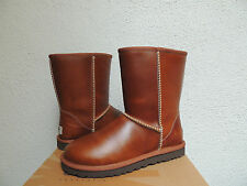UGG CLASSIC CHESTNUT WATER-PROOF LEATHER/ SHEEPSKIN BOOTS, US 5/ EUR 36 ~NIB