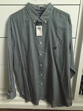 NEW - Chaps Men's Button Down Shirt - XL - Navy / White Houndstooth