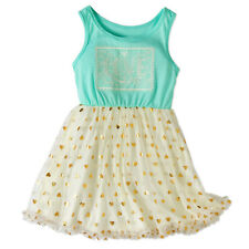 Colette Lilly Girls Tulle Box Shirt Dress Crochet Art and Foil Tulle Hearts Sz 4