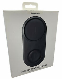 Genuine Official Samsung Wireless Charger Duo Pad With Wall Charger - Black