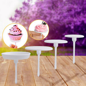 4xCake Cupcake Stand Glassa Cream Flower Nails Set Strumento decorazione Ss6