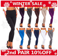 UK Thick Cotton Leggings Full Length All Sizes and Colors - High Quality