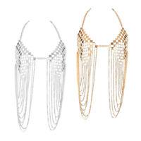 Club Sequins Tassel Bra Body Chains Metal Halter Bikini Jewelry Silver Chain