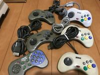 Sega Saturn Controller lot of 6 JAPAN SS SS10