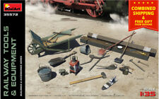 RAILWAY TOOLS and EQUIPMENT WWII 1941 1/35 scale PLASTIC MODEL KIT MINIART 35572